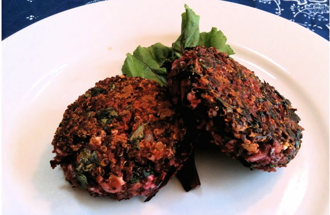 Red Quinoa and Beet Burgers